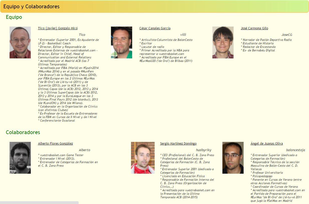 A través de este enlace podréis acceder a los Articulistas de la Antigua vuestrobasket.com