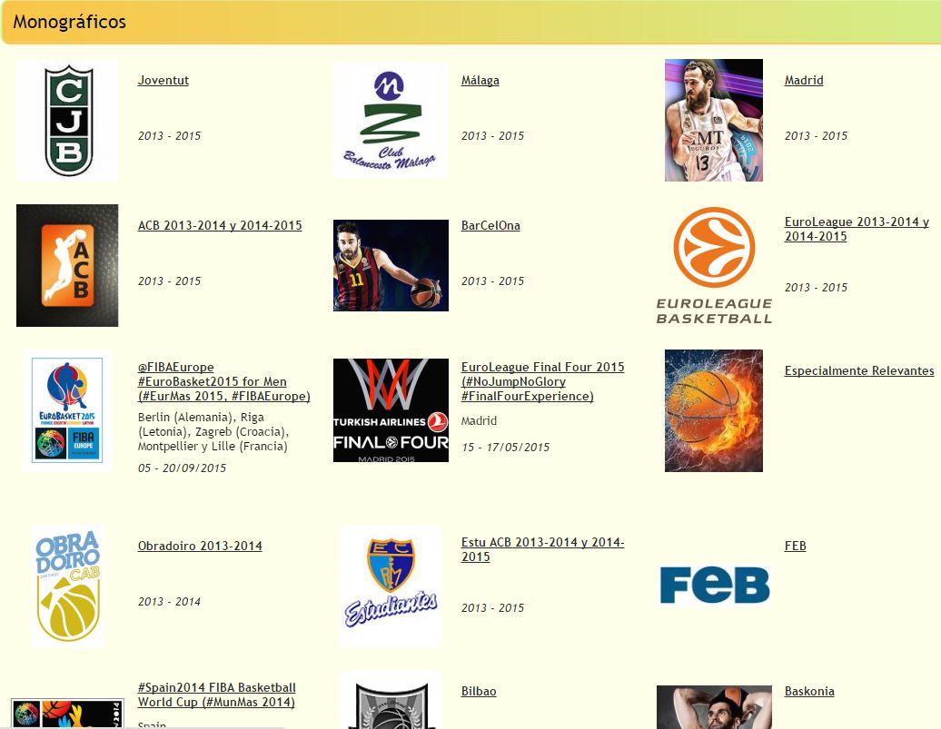 A través de este enlace podréis acceder a los Monográficos de la Antigua vuestrobasket.com